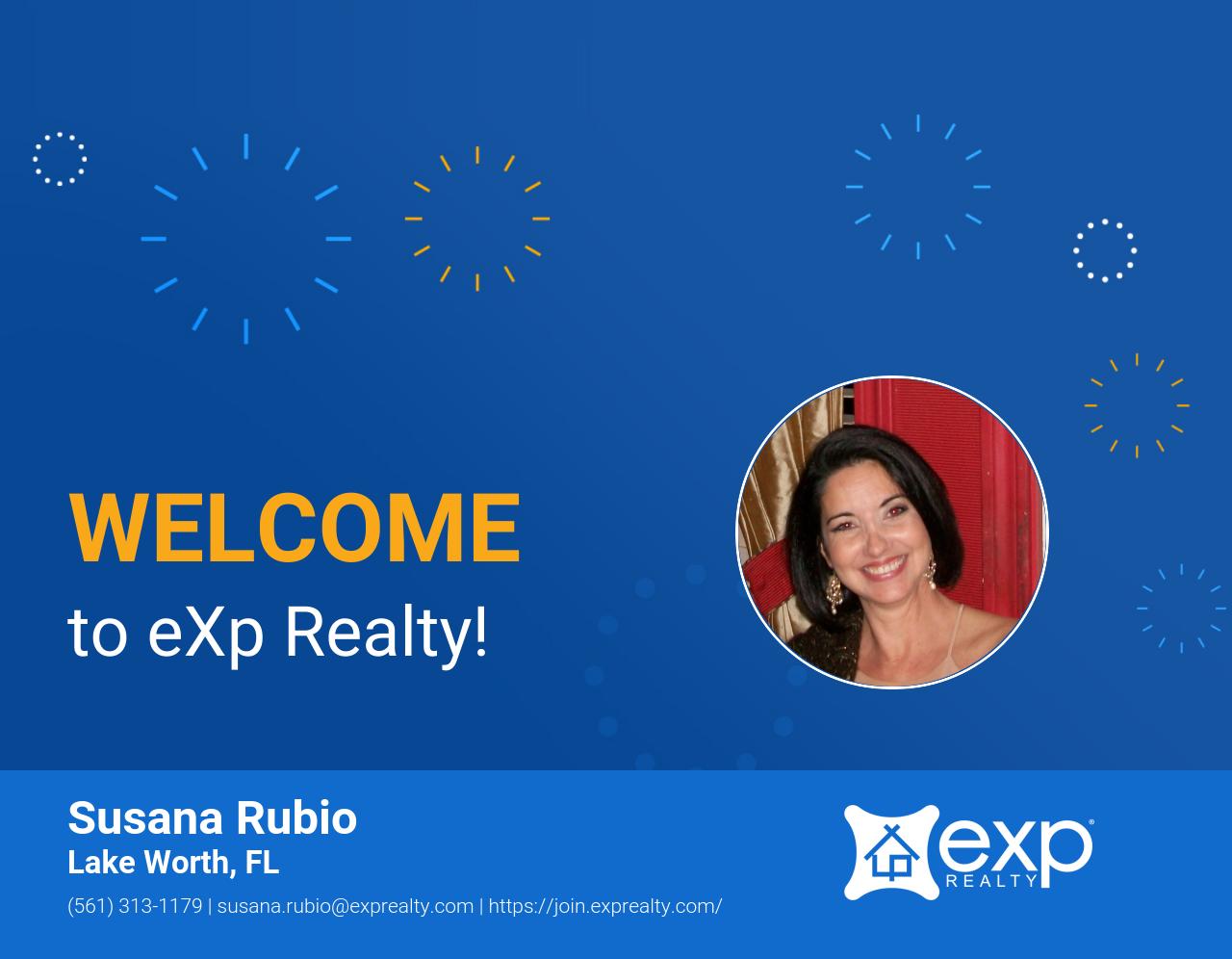 Susana Rubio Joined eXp Realty!