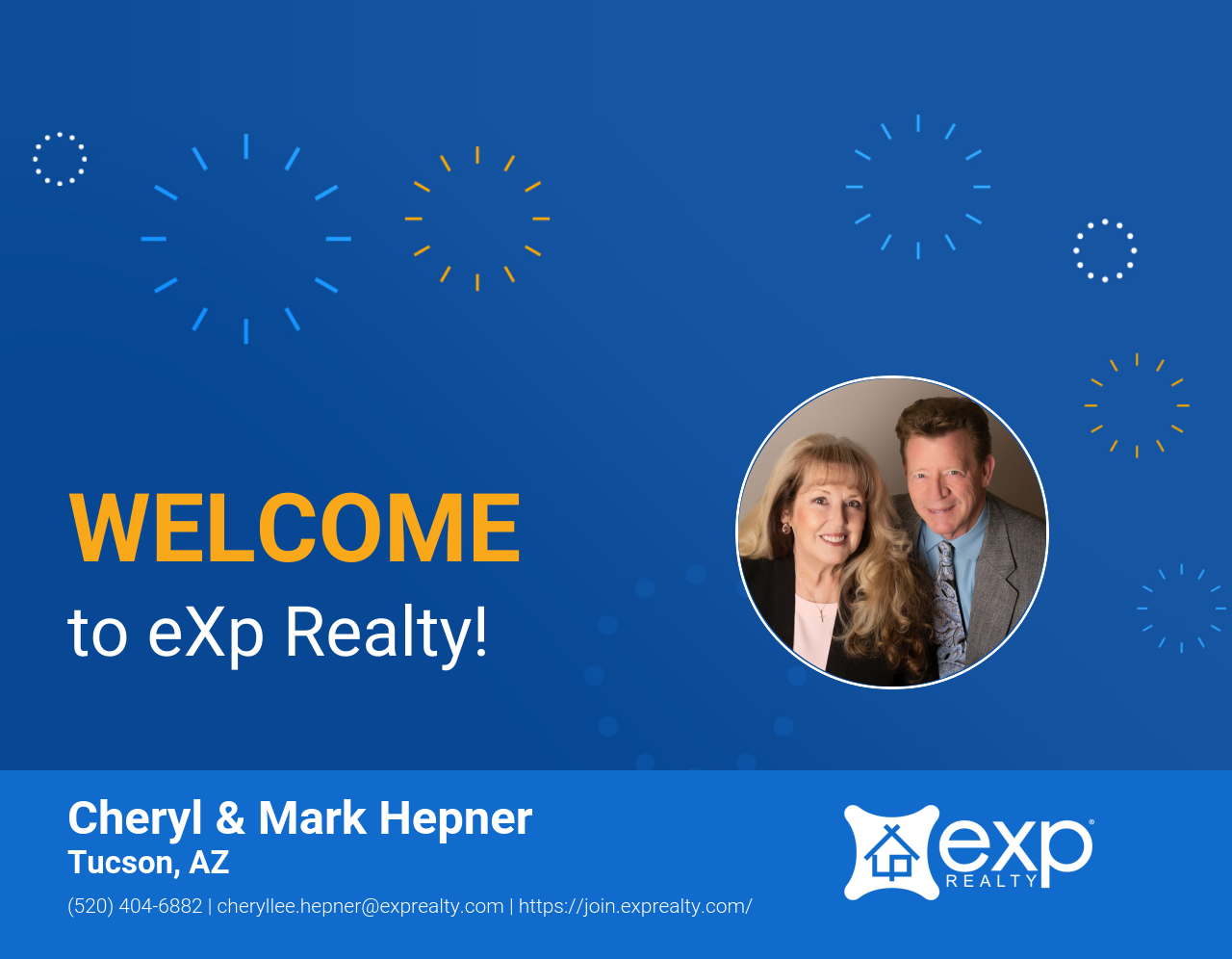 Welcome to eXp Realty Cheryl & Mark Hepner!