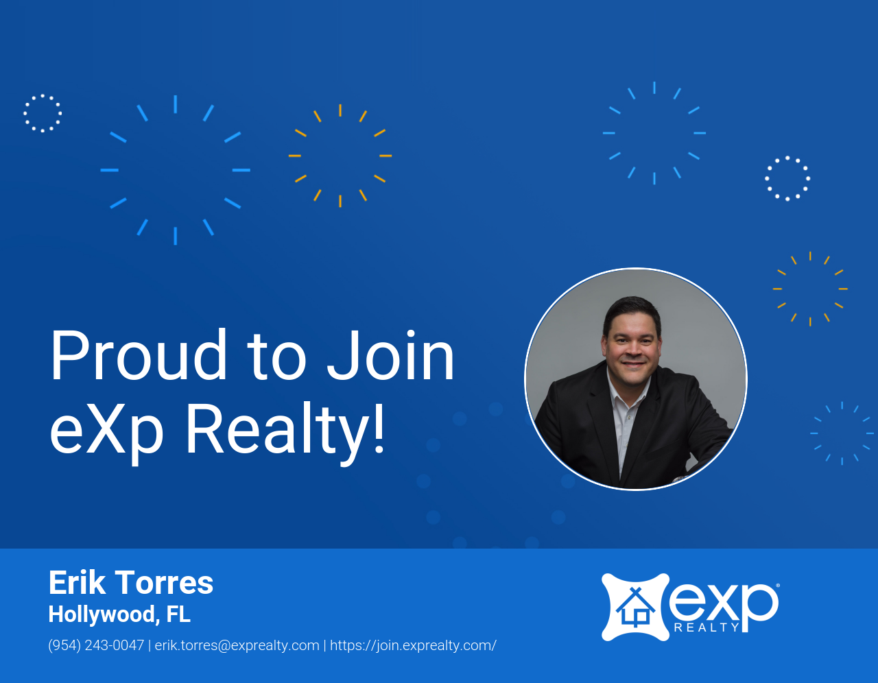 Welcome to eXp Realty Erik Torres!