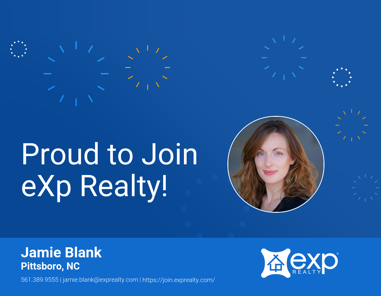 Jamie Blank Joined eXp Realty!