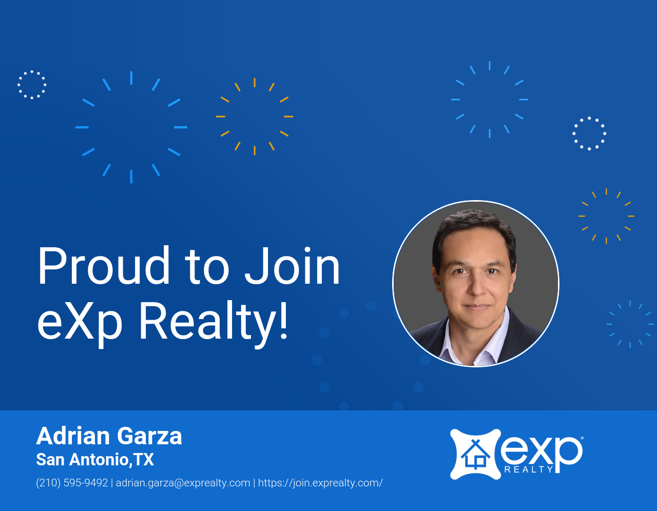Adrian Garza Joined eXp Realty!