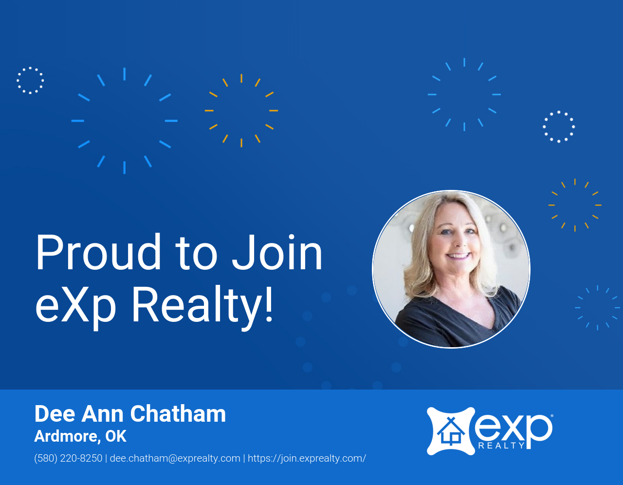 Welcome to eXp Realty Dee Ann Chatham!