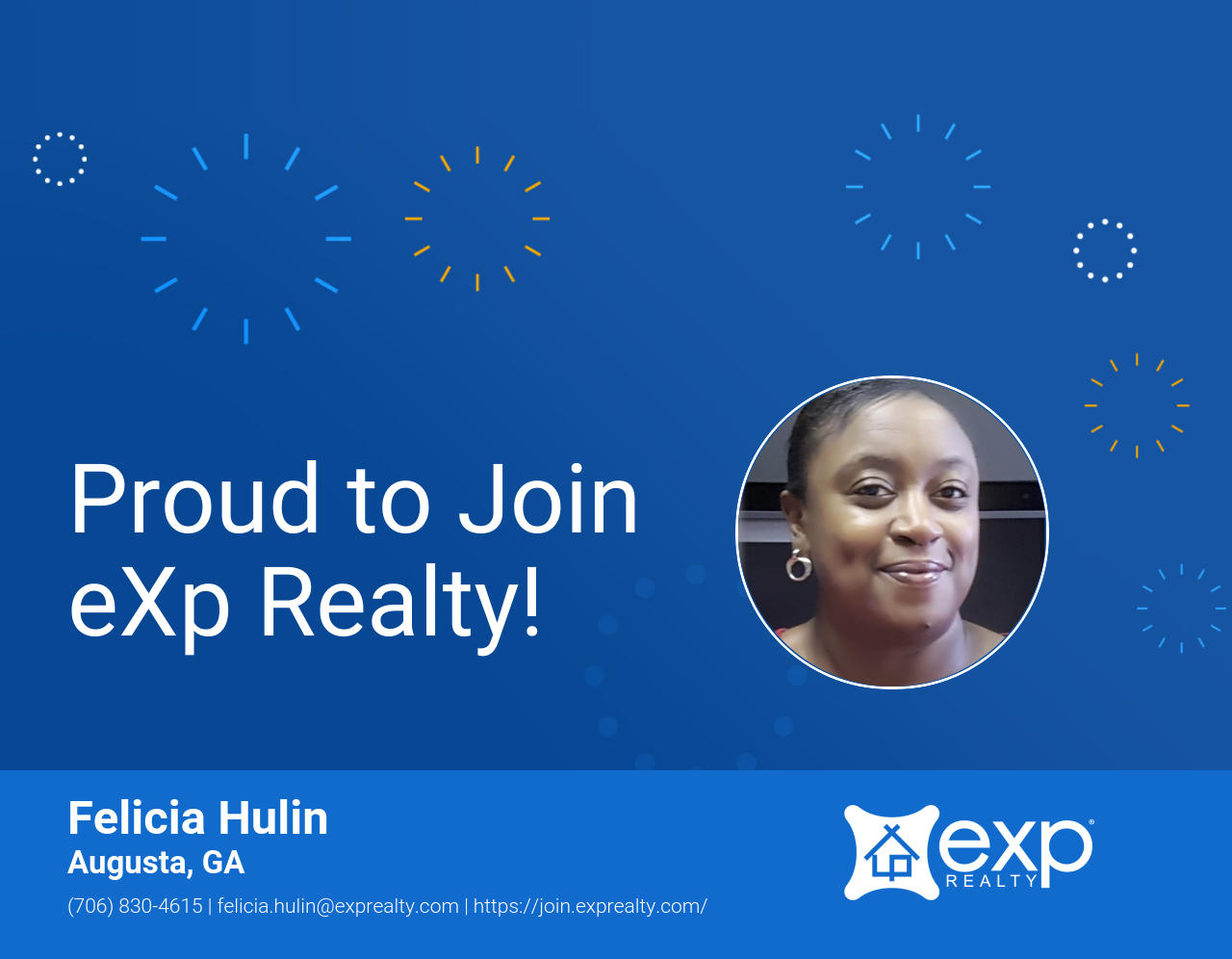 Welcome to eXp Realty Felicia Hulin!