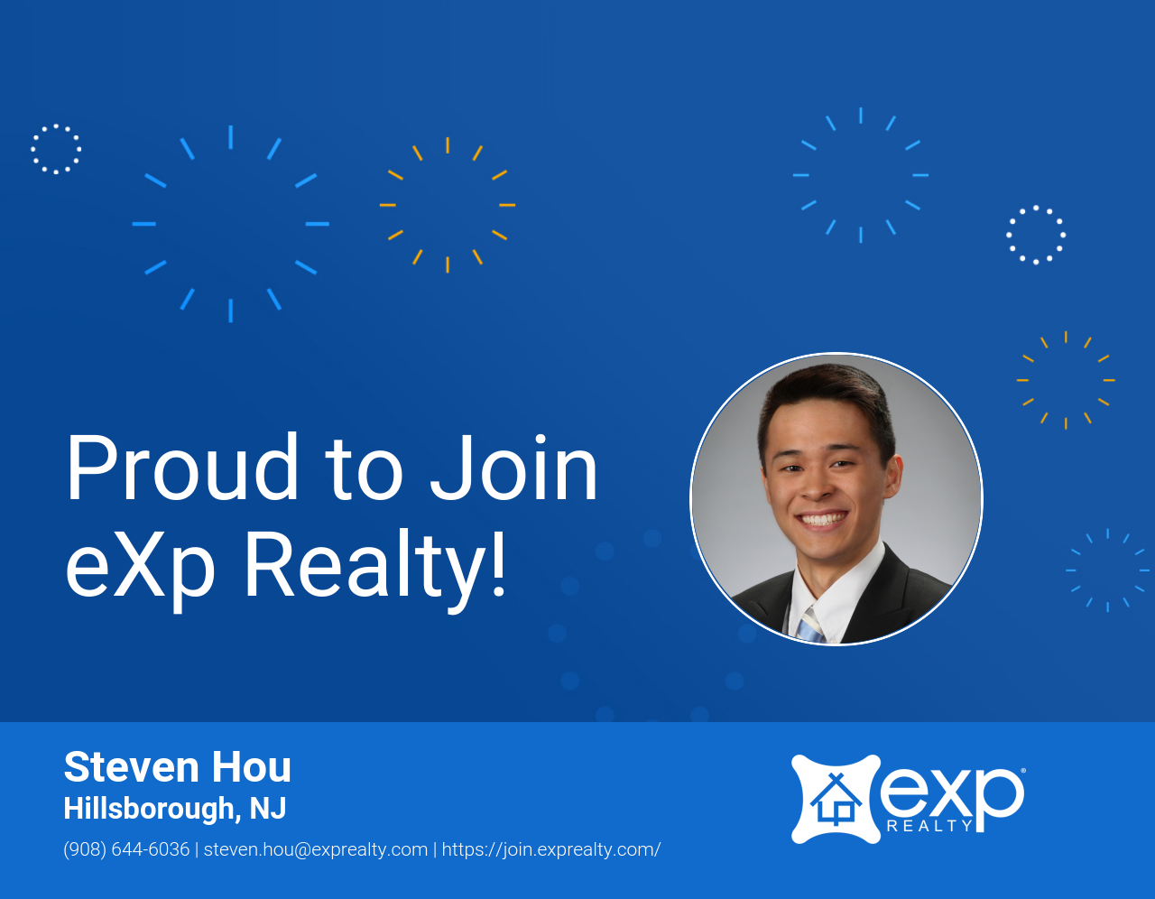 Steven Hou Joined eXp Realty!