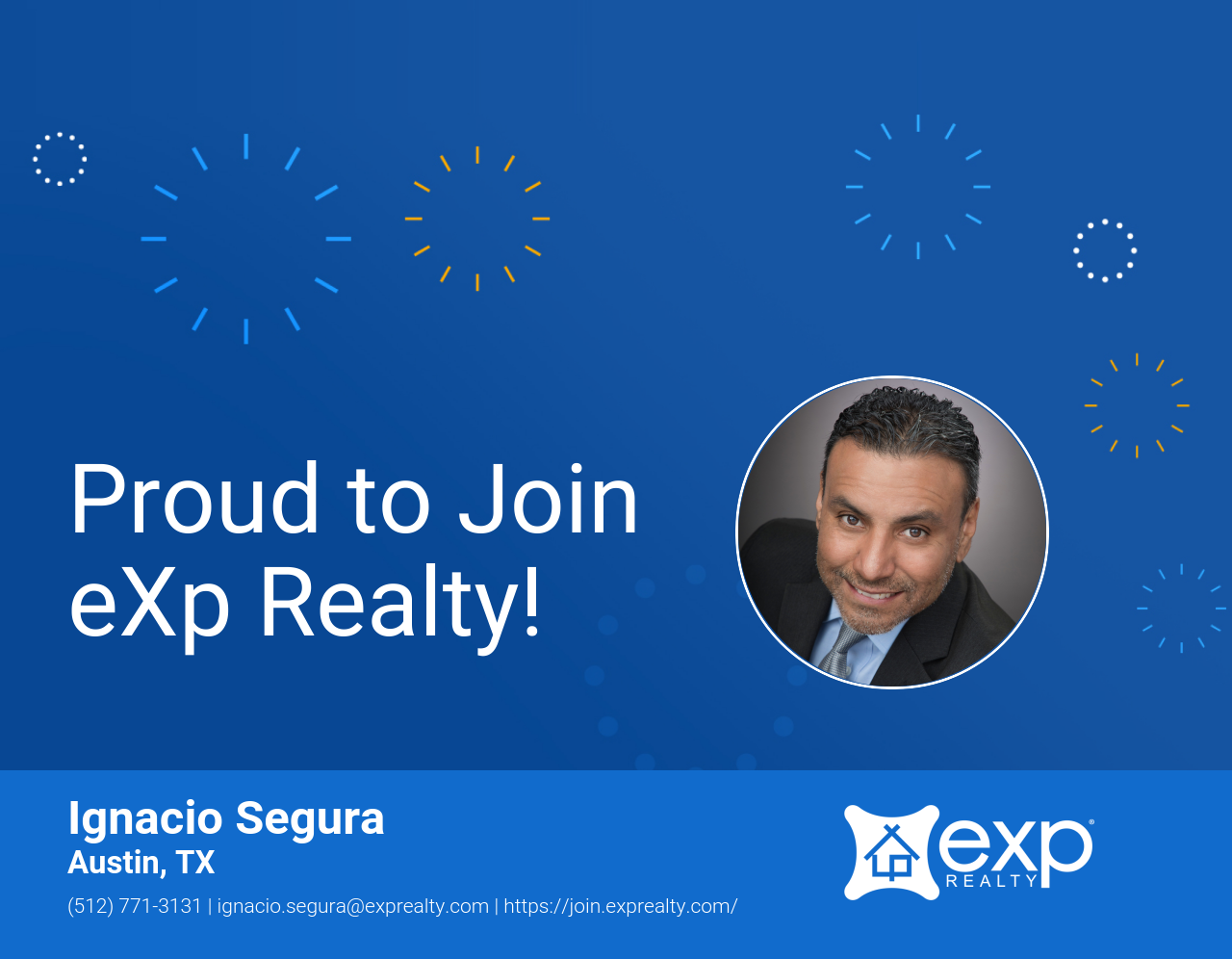 eXp Realty Welcomes Ignacio Segura!