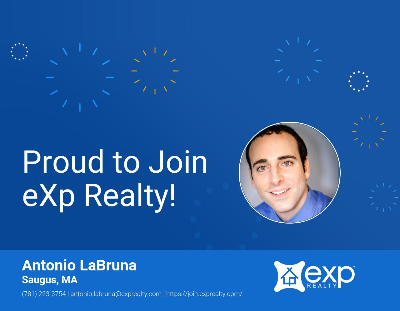 eXp Realty Welcomes Antonio LaBruna!