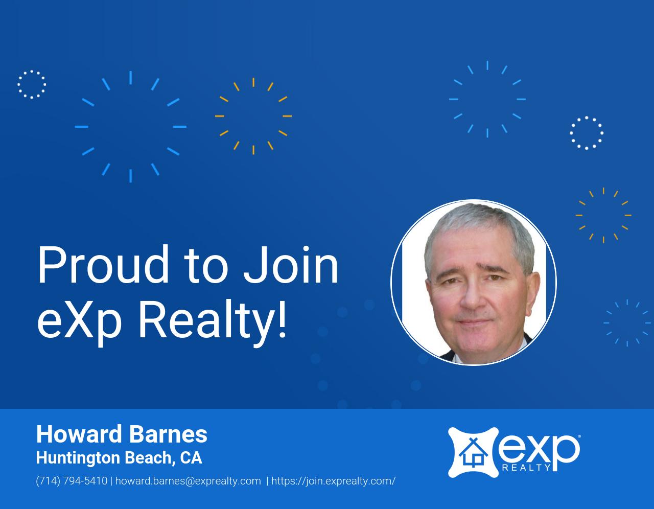 eXp Realty Welcomes Howard Barnes!