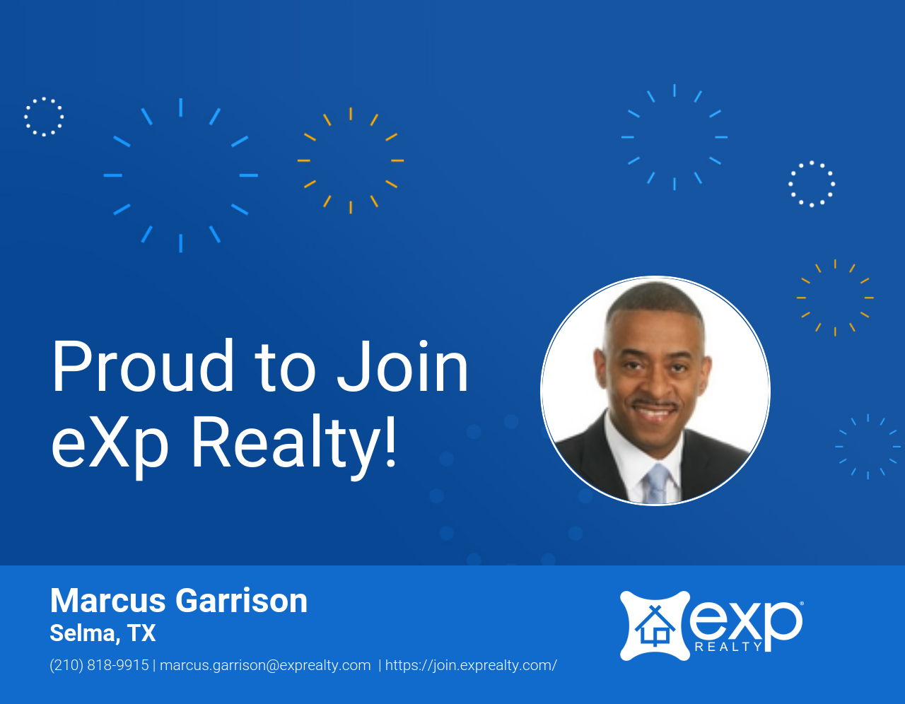 Marcus Garrison Joined eXp Realty!