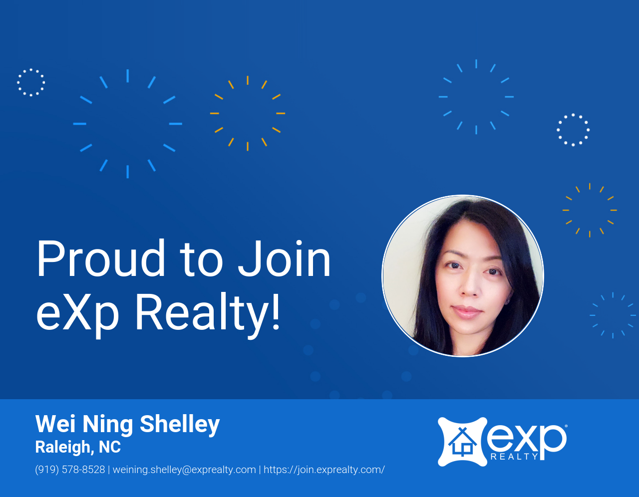 Wei Ning Shelley Joined eXp Realty!