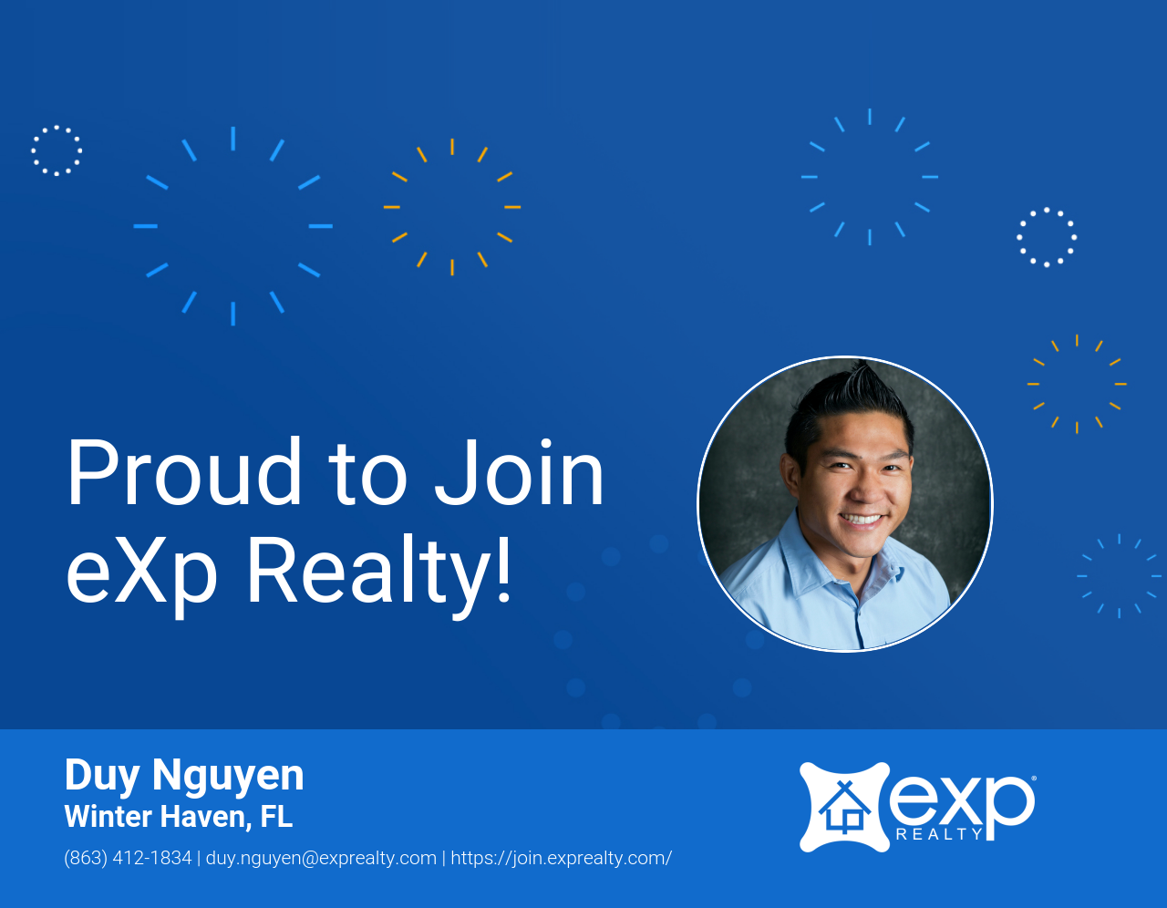 eXp Realty Welcomes Duy Nguyen!