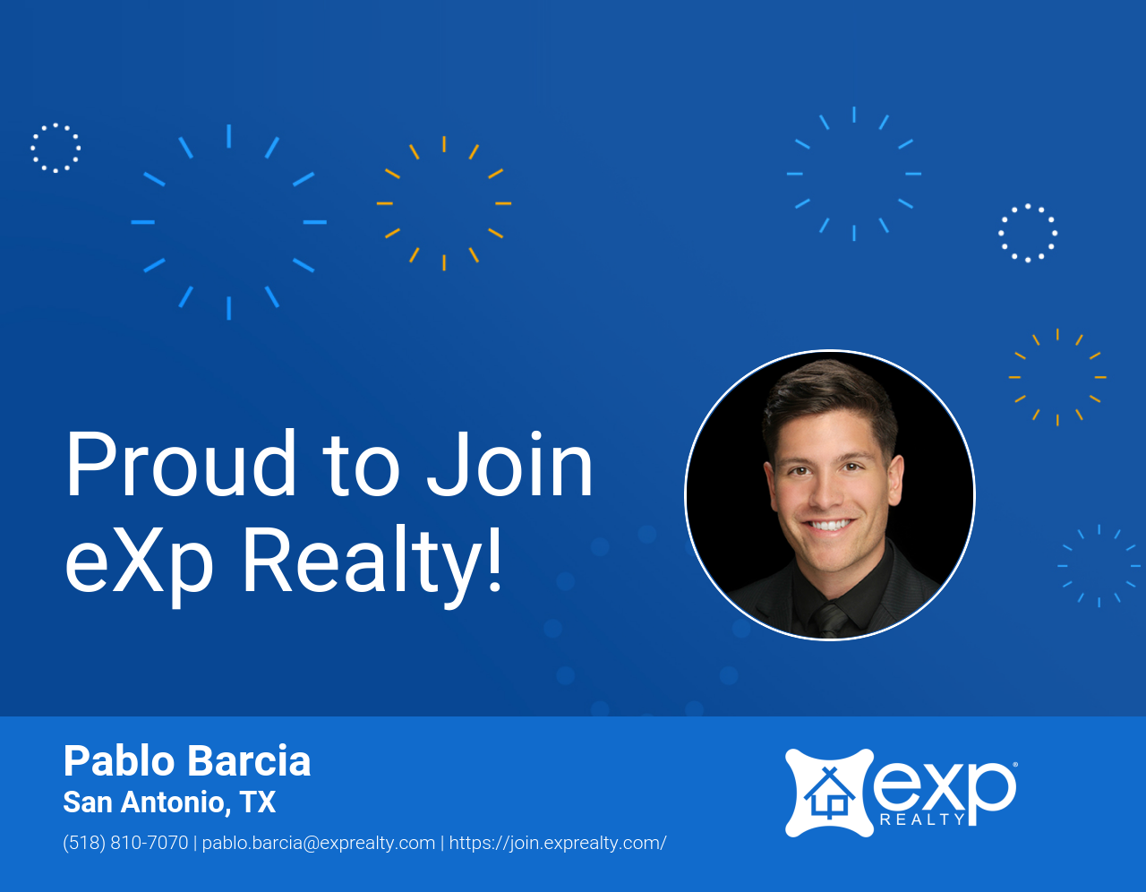 eXp Realty Welcomes Pablo Barcia!