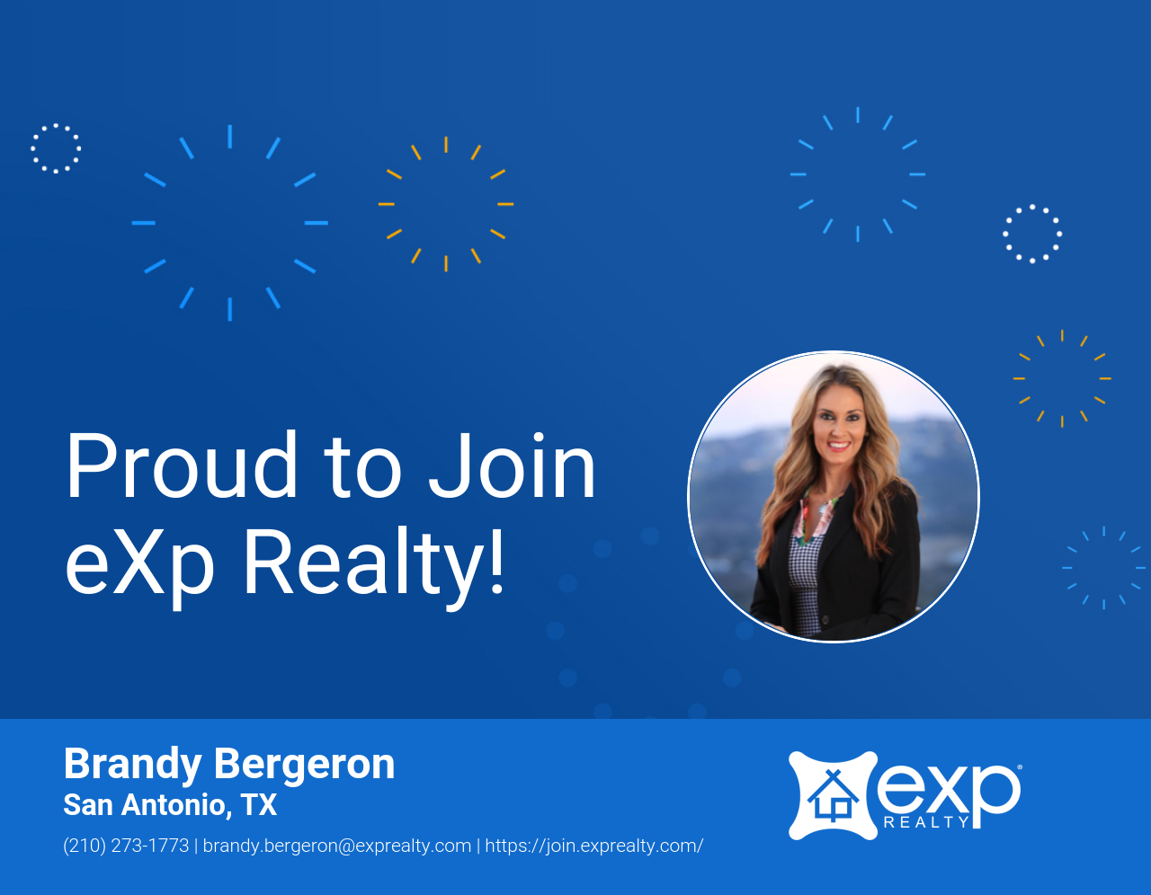Brandy Bergeron Joined eXp Realty!