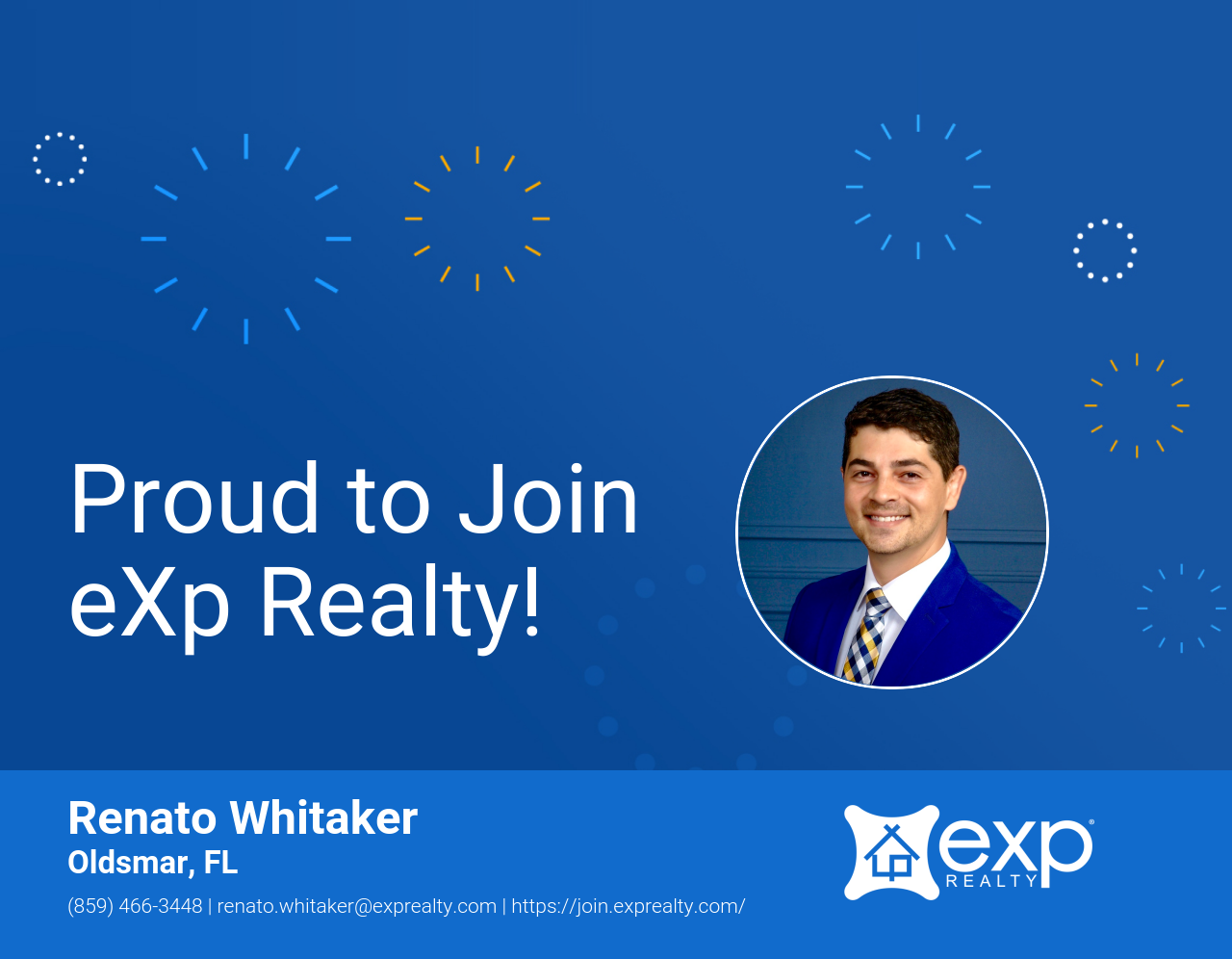 eXp Realty Welcomes Renato Whitaker!