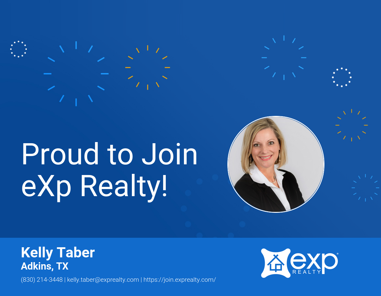 Kelly Taber Joined eXp Realty!