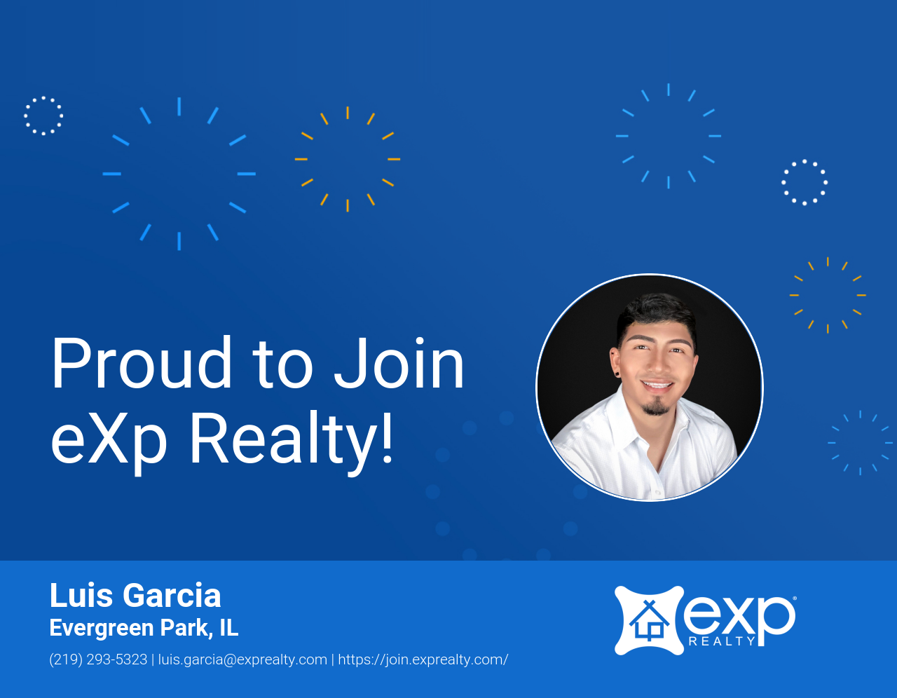 eXp Realty Welcomes Luis Garcia!