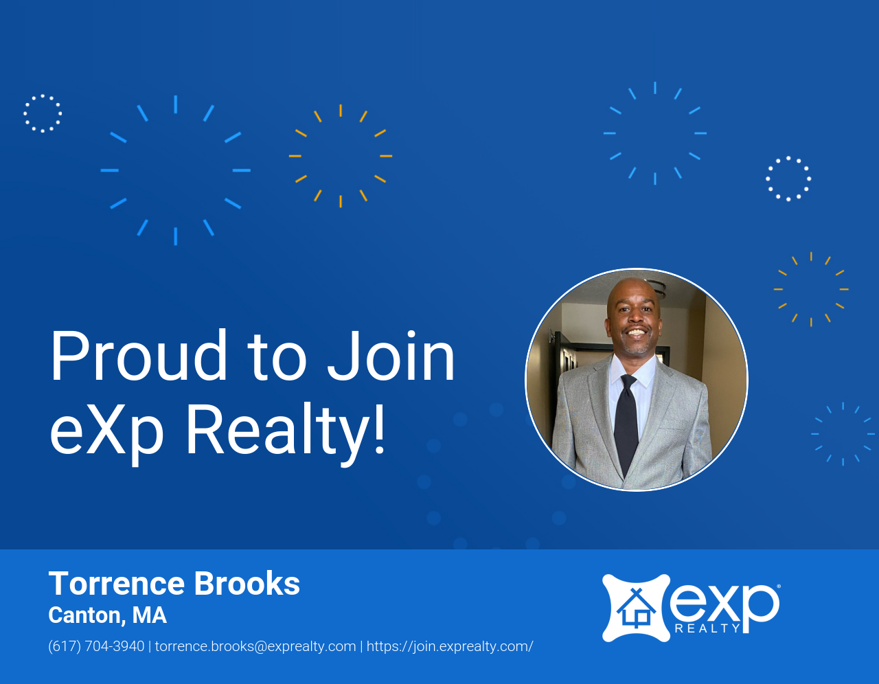 eXp Realty Welcomes Torrence Brooks!
