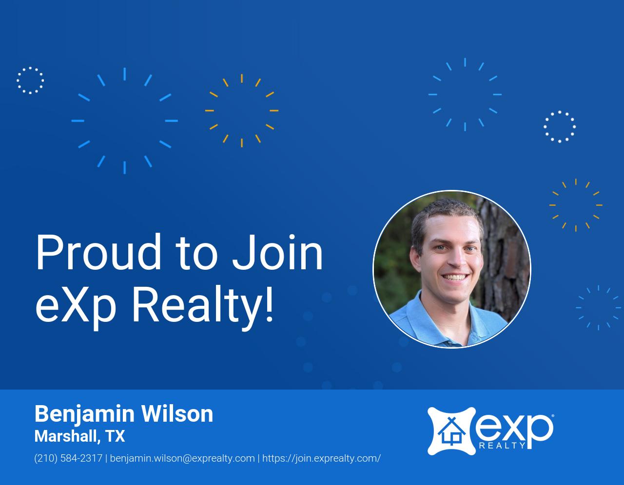 eXp Realty Welcomes Benjamin Wilson!