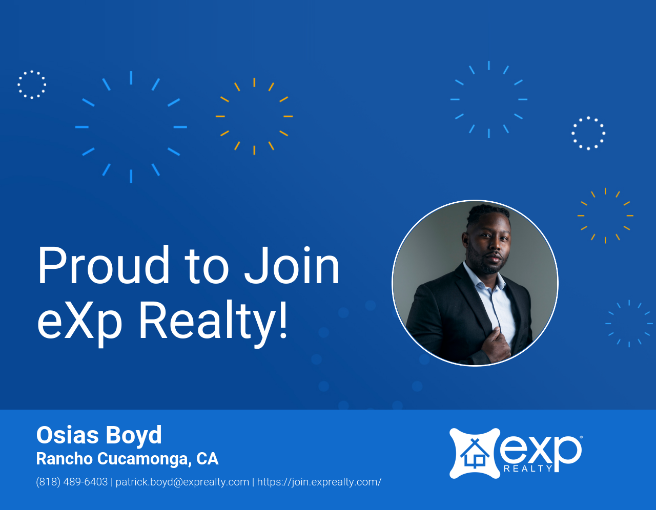 Osias Boyd Joined eXp Realty!
