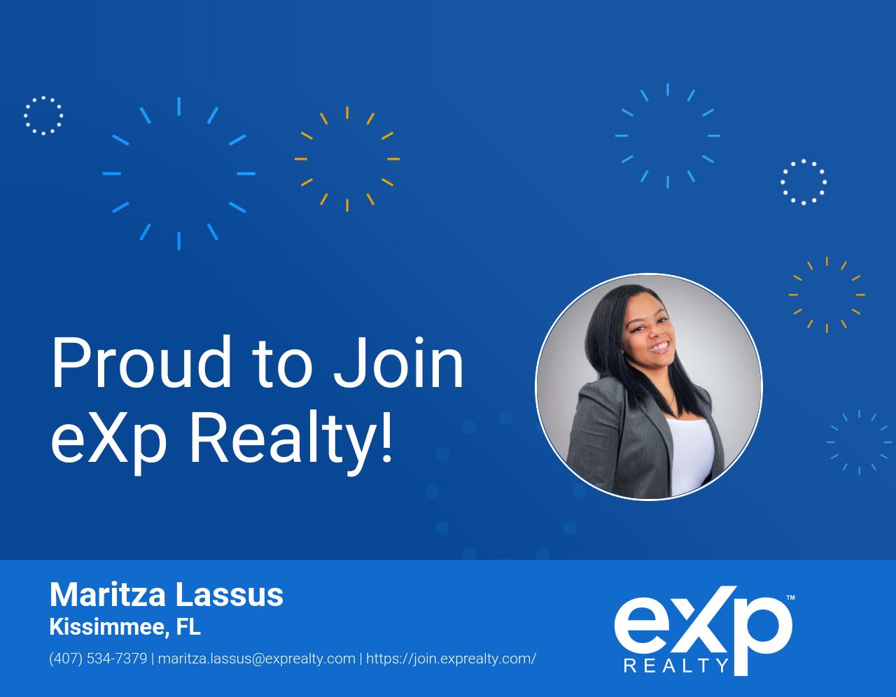 Maritza Lassus Joined eXp Realty!