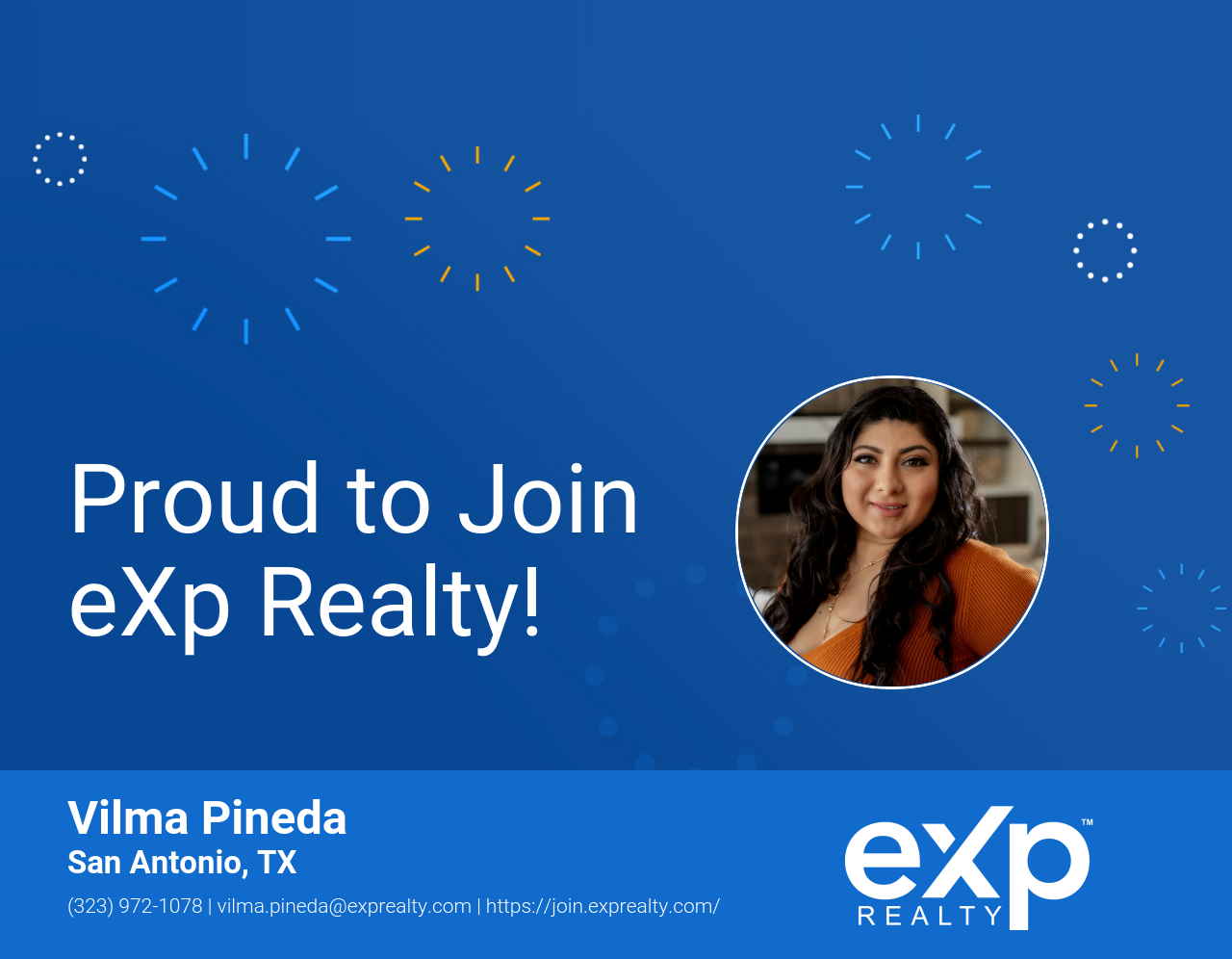 Vilma Pineda Joined eXp Realty!