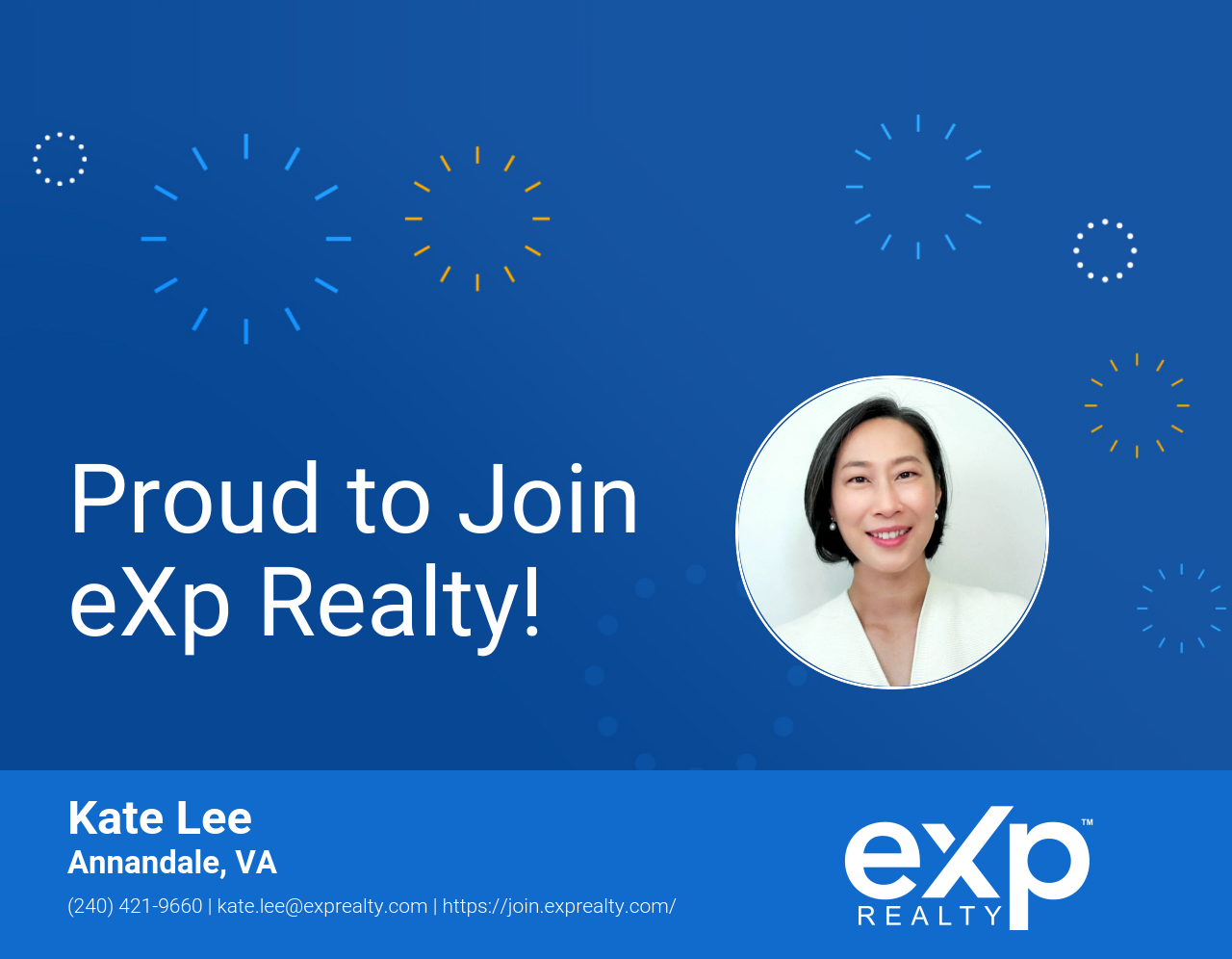 Kate Lee Joined eXp Realty!