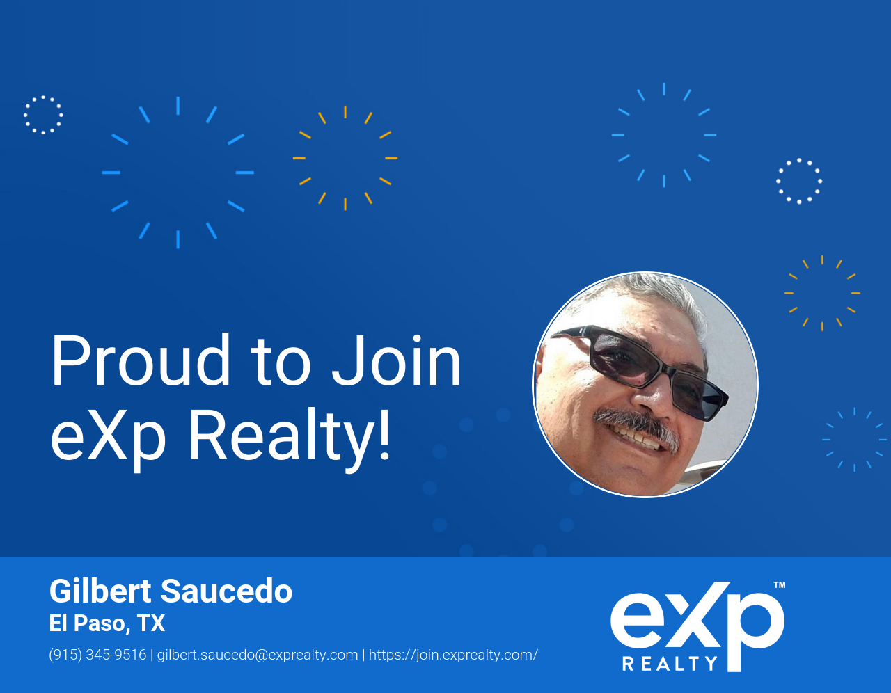 eXp Realty Welcomes Gilbert Saucedo!