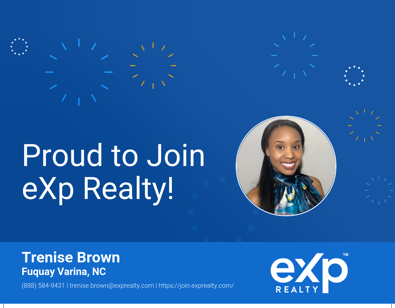 eXp Realty Welcomes Trenise Brown!