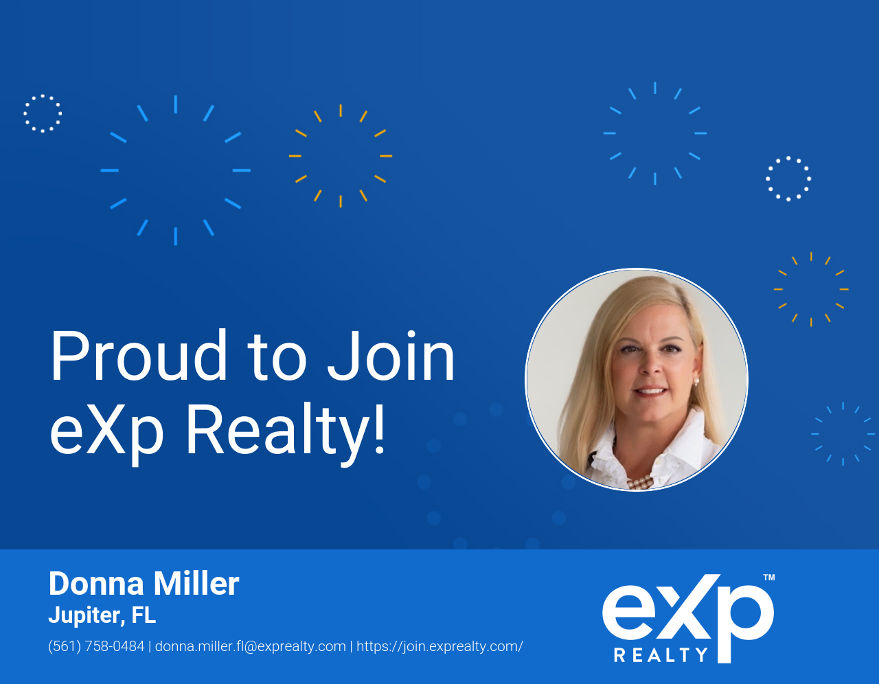 Donna Miller Joined eXp Realty!