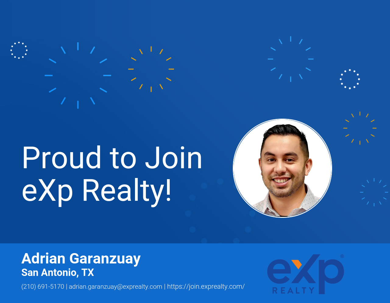 Adrian Garanzuay Joined eXp Realty!