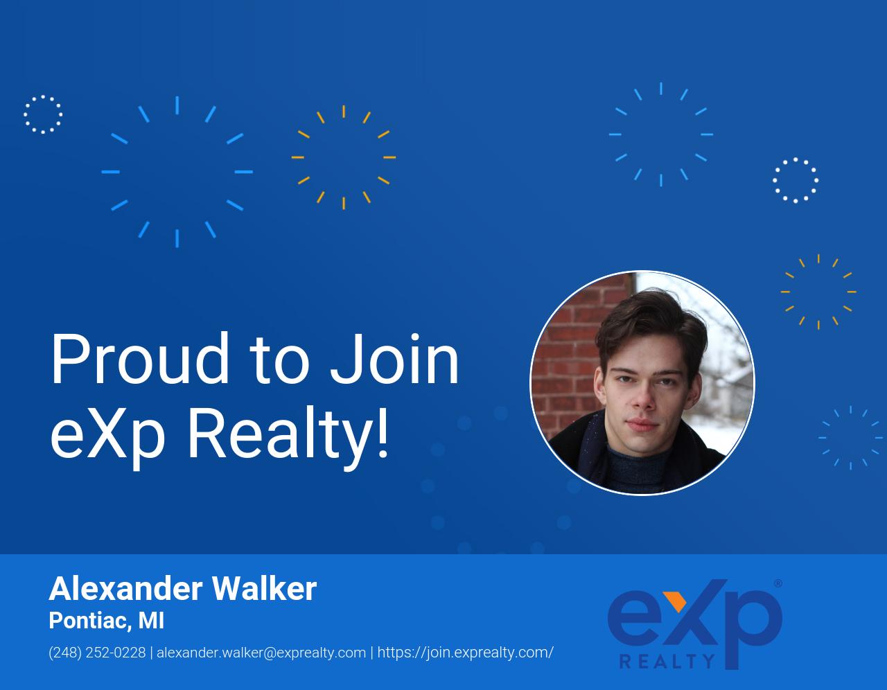 Alexander Walker Joined eXp Realty!