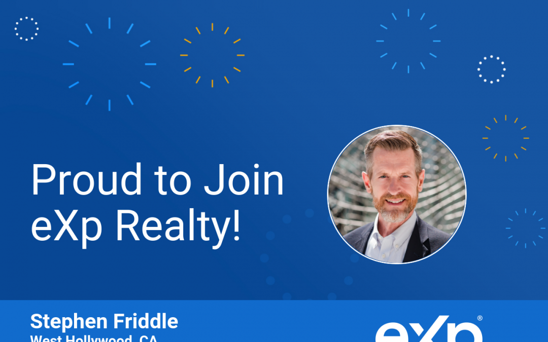 Stephen Friddle Joined eXp Realty!